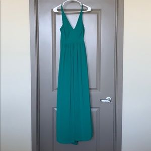 ASOS Green V-Neck Maxi Dress